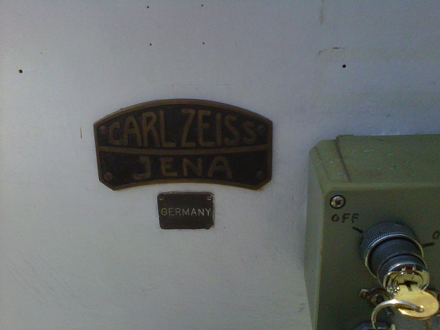 Zeiss Name Plate